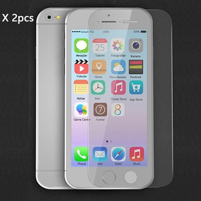 Screen Protector for Apple iPhone 6s Plus / iPhone 6 Plus 2 pcs Front Screen Protector High Definition (HD)