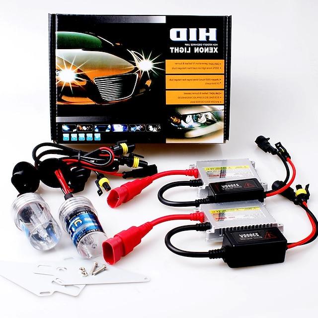 12V 55W H11 15000K Slim Aluminum Ballast HID Xenon Headlights Kit