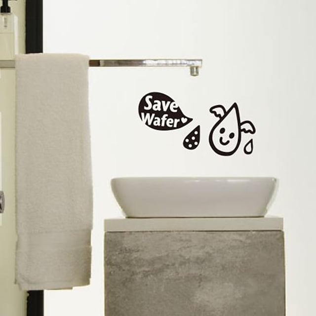stickers muraux autocollants de mur, salle de bains modernes les pvc stickers muraux