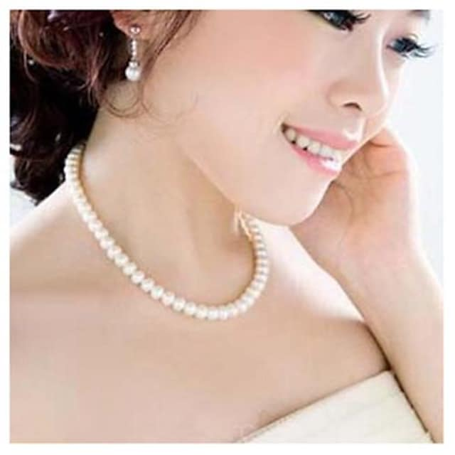 Women's Statement Necklace Pearl Necklace Pearl White Necklace Jewelry For