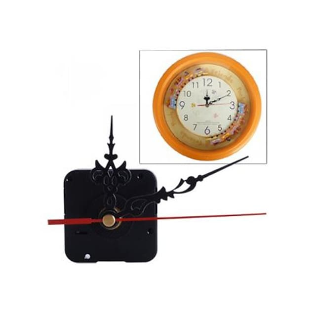 Modern Contemporary Plastic Square Houses Indoor AA Decoration Wall Clock Analog No