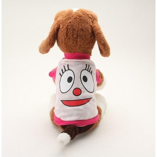 Koira T-paita Pentu Vaatteet Piirretty Rento / arki Koiran vaatteet Pentu Vaatteet Koiran asut Hengittävä Sininen Pinkki Asu yrityksestä Girl and Boy Dog Puuvilla XS S M L
