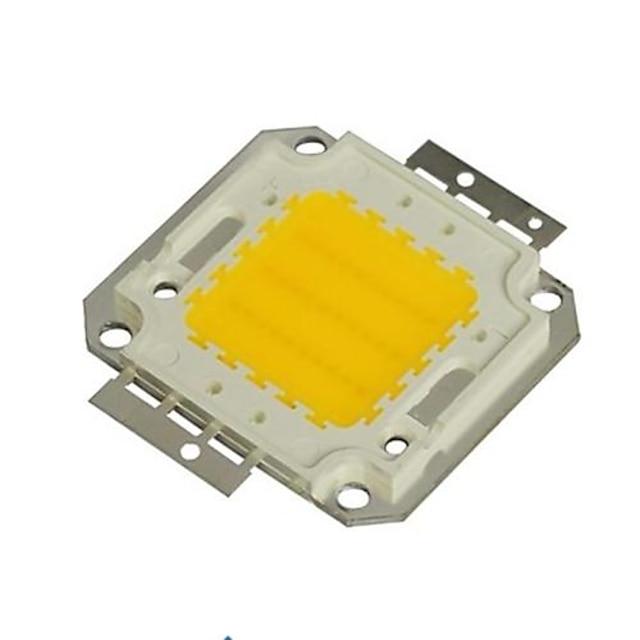 zdm 1pc diy 30w 2800-3500lm alb cald 3000-3500k lumină modul integrat de led (dc33-35v 0.8a) lampă de stradă pentru proiectarea de sudură de aur ușor de sârmă de suport de cupru