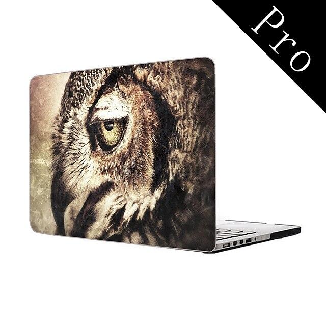conception d'art de hibou plein corps boîtier en plastique de protection pour MacBook Pro 13