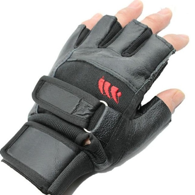 Outdoor High Quality Cycling Short Finger Non-Slip Gloves - Black