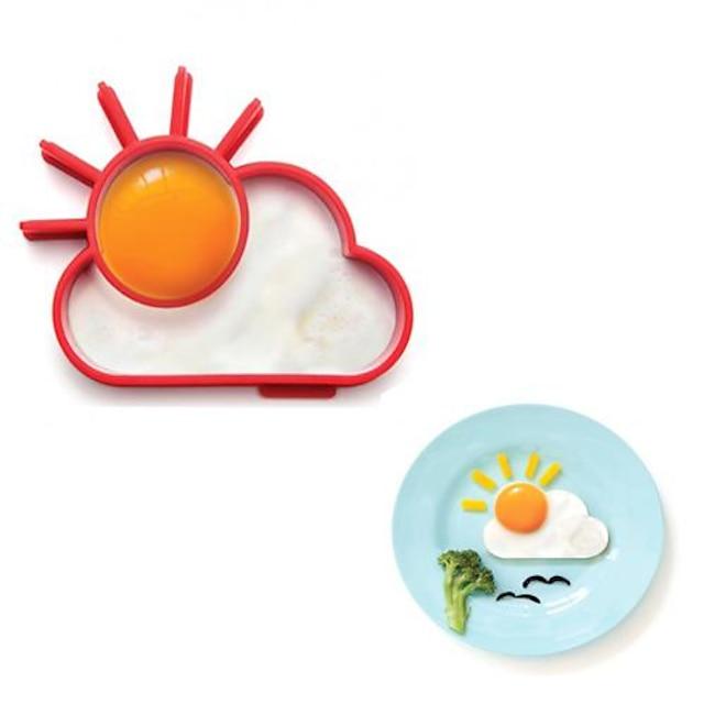 Novelty Sunnyside Sun Cloud Egg Ring Silicone Frying Egg Omelette Circle 13.8 x 11 x 2.4 cm