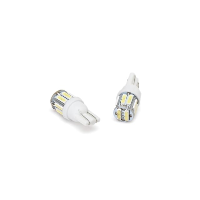 OTOLAMPARA Mașină LED Luminile de margine laterale T10 Becuri 180 lm SMD 7020 1 W 10 Pentru 10 buc