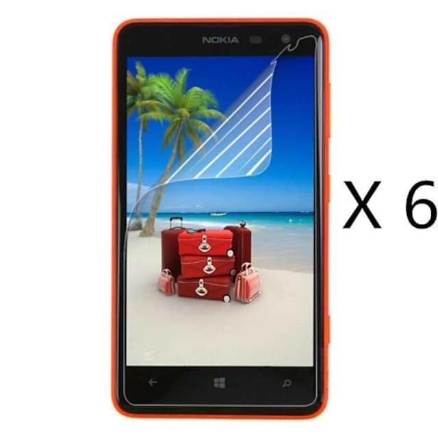 (6 pcs)Professional High Definition Screen Protector with Cleaning Cloth for Nokia 625