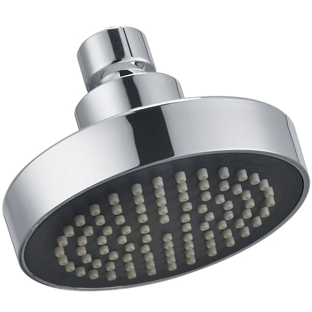 Round Chrome Plated Shower Top Spray,A Grade ABS Silvery Rainfall Soft Spray Function Rain Shower