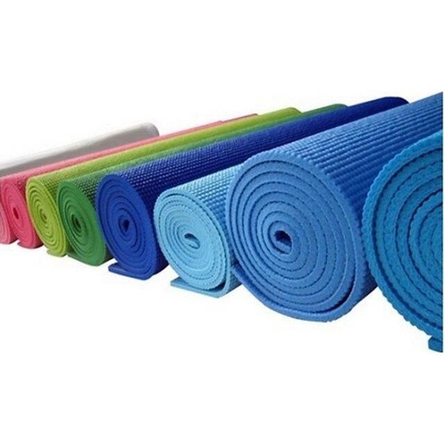 Non Slip/Non Toxic Yoga Mats 4 mm Blue PVC 173*61*0.4Cm