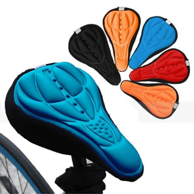 Copertura / cuscino sella della sella della bicicletta Traspirante Comfort Pad 3D Silicone Gel di silice Ciclismo Bici da strada Mountain bike Nero Rosso Blu