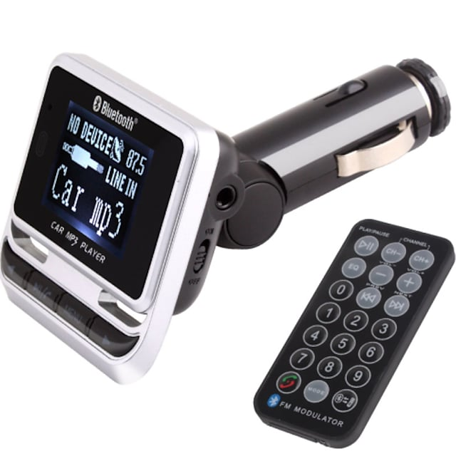 FM-sändare med bluetooth bilmonteringssats / med trådlös handkontroll / bluetooth 2.0 / mp3 play usb / TF-kort