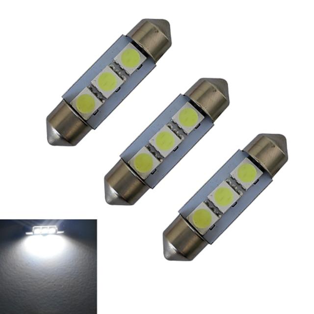 3ks 1 W Ozdobná světla 60 lm Girlanda 3 LED korálky SMD 5050 Chladná bílá 12 V