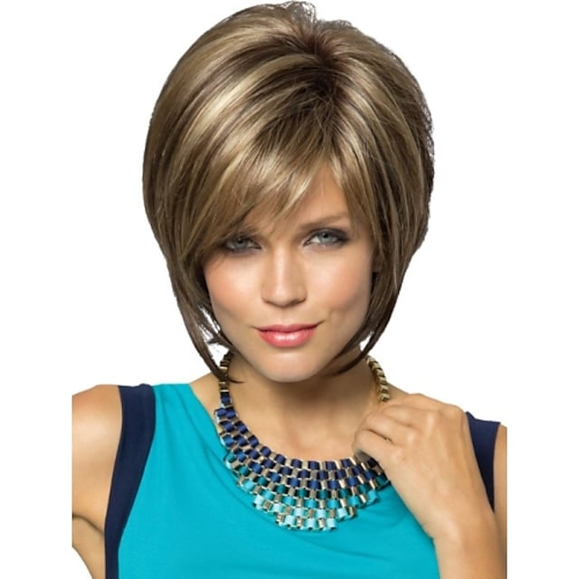 Synthetic Wig Straight Straight Pixie Cut Wig Short Blonde Synthetic Hair Women's Blonde