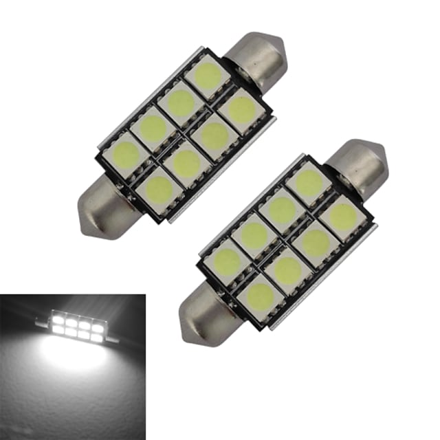 2pcs 1.5 W 150-170 lm 8 LED perler SMD 5050 Kjølig hvit 12 V / 2 stk.