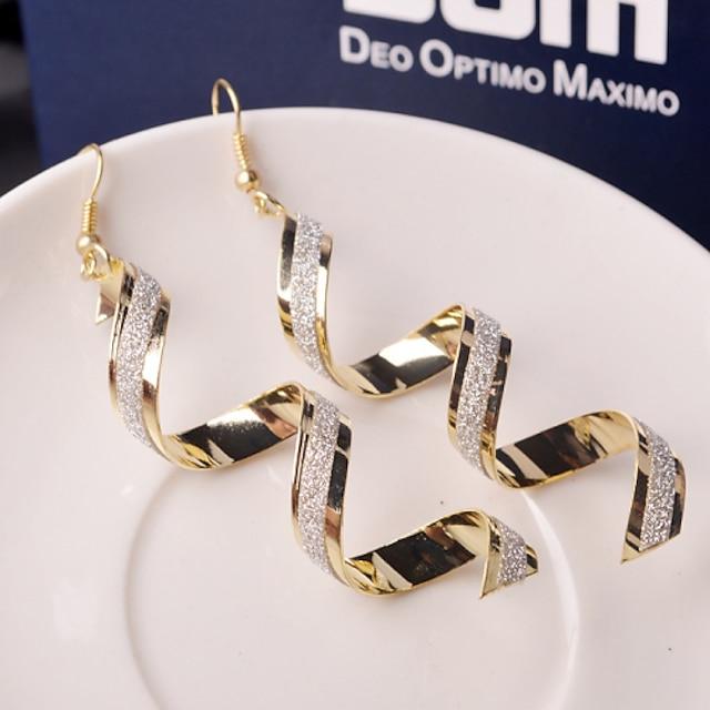 Women's Drop Earrings Dangle Earrings Hanging Earrings Wave Ladies Elegant Fashion everyday Earrings Jewelry Golden / Black / Silver For Party Wedding Casual Daily