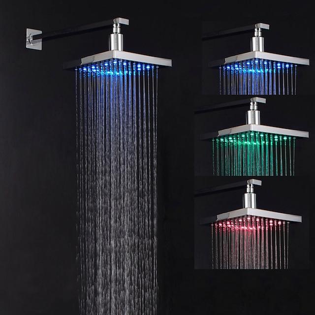 Contemporary Rain Shower Chrome Feature - LED / Rainfall, Shower Head