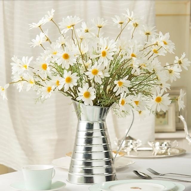 silke pastoral stil bukett bordplate blomst 1 bukett 50cm