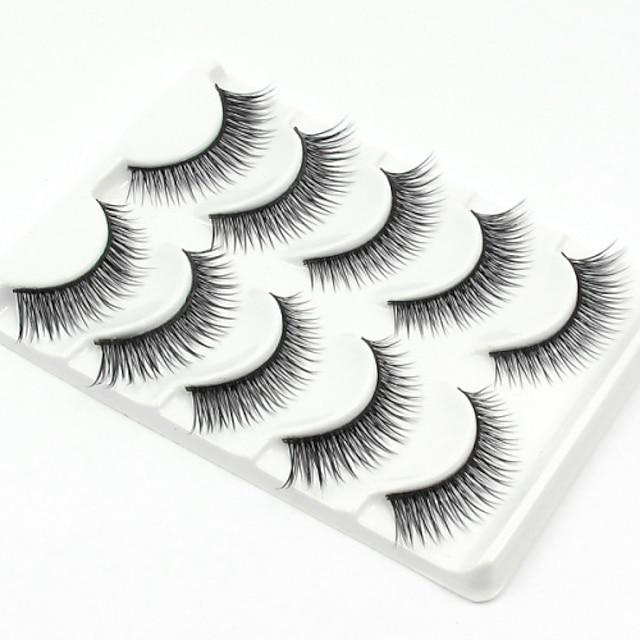 Cil Faux Cils 10 pcs Dense Fibre Quotidien Epais Longs Naturels - Maquillage Maquillage Quotidien Cosmétique Accessoires de Toilettage