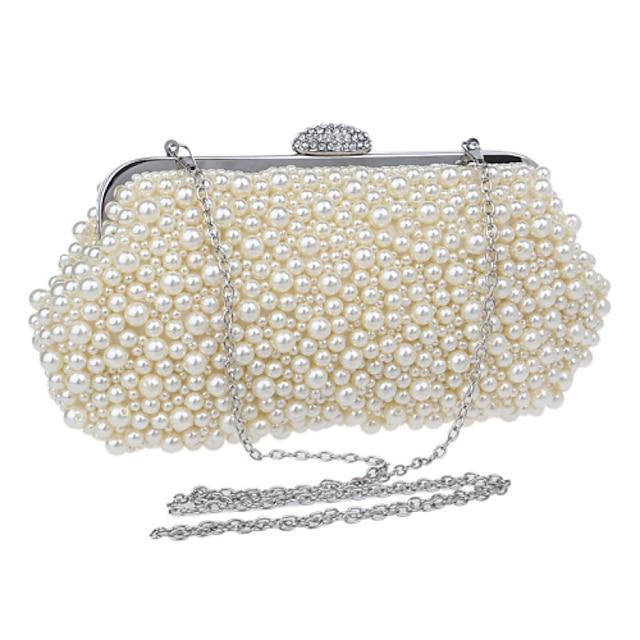 Women's Bags Acrylic Evening Bag Imitation Pearl Geometric Artwork Pearl Party Wedding Event / Party Evening Bag Wedding Bags Handbags Champagne Beige