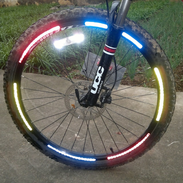 Bike Light Reflective Band Reflective Sticker Mountain Bike MTB Bicycle Cycling Reflective Easy Carrying Other Cycling / Bike