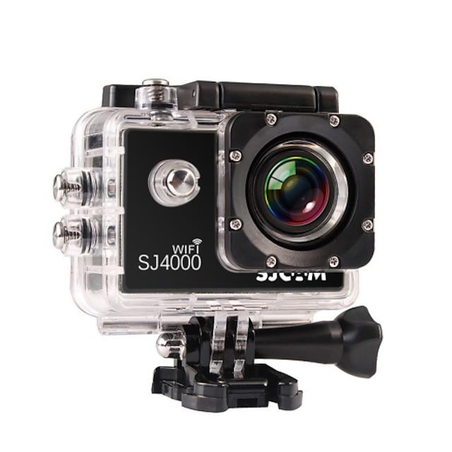 SJCAM SJ4000 WIFI Sports Action Camera Gopro Gopro & Accessories Outdoor Recreation vlogging Waterproof / WiFi 32 GB 8 mp / 5 mp / 3 mp 4x 1920 x 1080 Pixel 1.5 inch CMOS H.264 30 m ±2EV / iPhone iOS