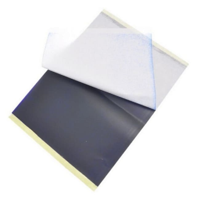 basekey נייר העברת סטנסיל תרמית 25 גיליונות x קעקוע פחמן התחקות A4 ערכת