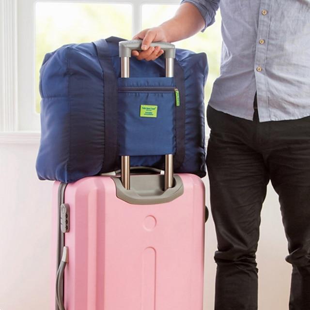 1pc Borsa da viaggio Organizzatore di viaggi Organizer per valigia Massima capacità Ompermeabile Portatile Anti-polvere Viaggi Tessuto Oxford Tinta unita Regalo Per / / Duraturo