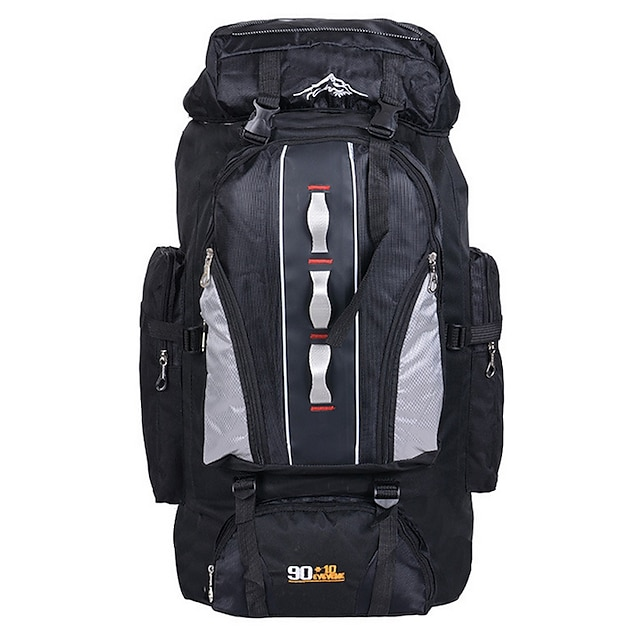 100 L Hiking Backpack Rucksack Multifunctional Waterproof Skidproof Laptop Packs Outdoor Camping / Hiking Hunting Traveling Terylene Nylon Orange Red Navy Blue / Wear Resistance