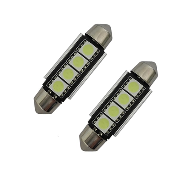 2pcs 42mm 1.5W 80-90 lm Car Light Reading Light  Decoration Light 4 leds SMD 5050 Cold White DC 12V