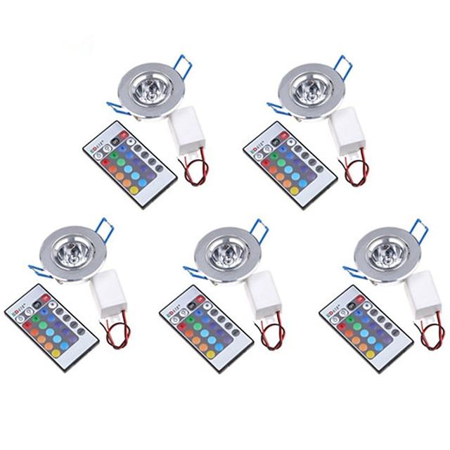 5 шт. 3 W 200-250 lm 1 Светодиодные бусины Высокомощный LED На пульте управления / Декоративная RGB 85-265 V / RoHs