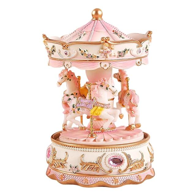الصندوق الموسيقي صندوق الموسيقى الدائري فريد نسائي للصبيان للفتيات للأطفال بالغين هدايا التخرج ألعاب هدية