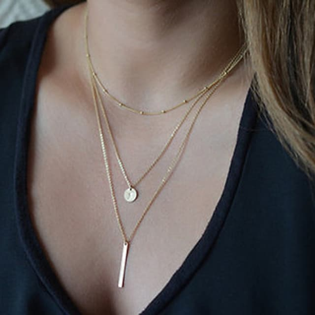 Women's Pendant Necklace Y Necklace Ladies Basic Fashion Alloy Golden Silver Necklace Jewelry For Party Casual Daily
