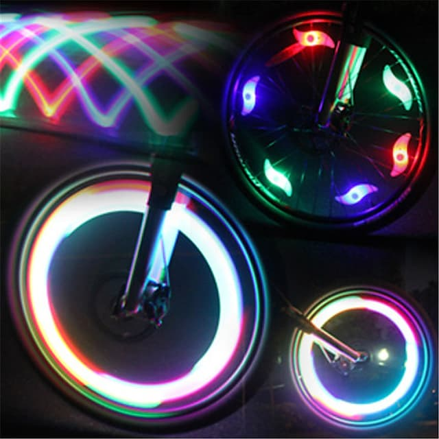 LED Bike Light Valve Cap Flashing Lights Wheel Lights Mountain Bike MTB Bicycle Cycling Waterproof Multiple Modes Battery Cycling / Bike / IPX-4
