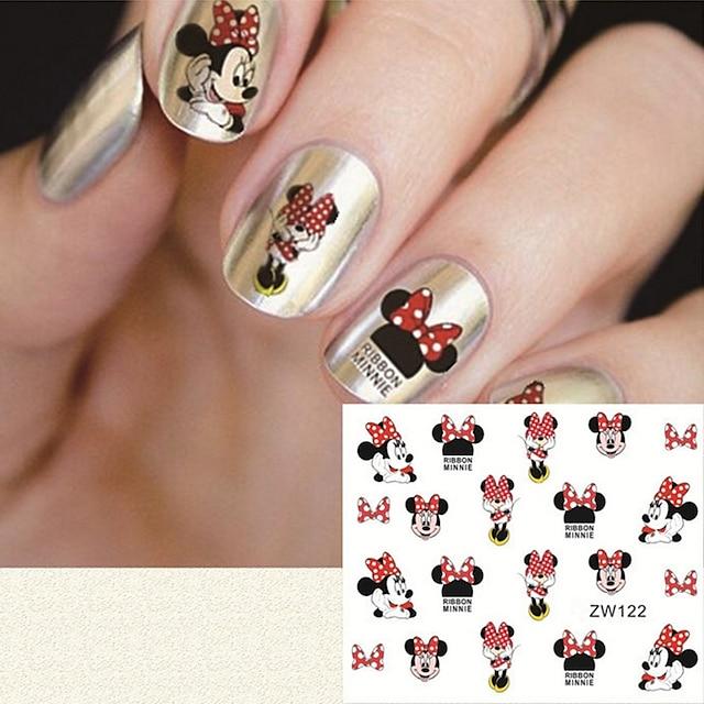 fashion printing pattern water transfer printing cartoon pattern nail stickers