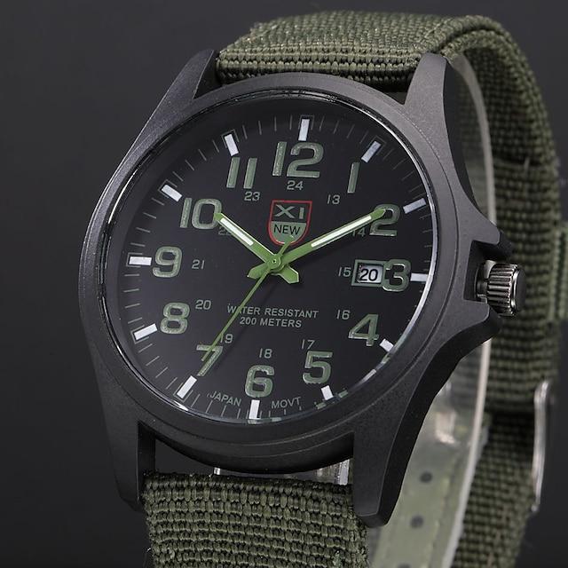 Pánské Vojenské hodinky Analogové Křemenný Na běžné nošení Kalendář / Jeden rok / Nerez / SSUO 377