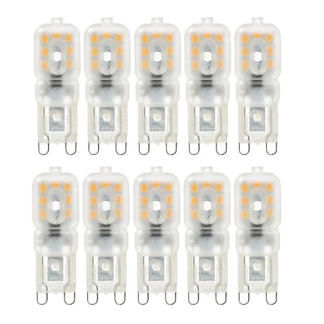 10шт g9 4w 300-400 lm двухконтактные светодиодные лампы 14leds 2835smd теплый белый холодный белый свет лампы переменного тока 220 в