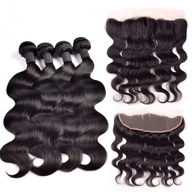 Cabello Hindú Ondulado Grande 350 g Trama del pelo con cierre Cabello humano teje Extensiones de Pelo Natural