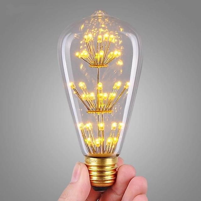 1 ชิ้น 3 W หลอดไส้ LED 200 lm E26 / E27 ST64 47 ลูกปัด LED COB ตกแต่ง แจ่มจรัส ตกแต่งงานแต่งงานในเทศกาลคริสต์มาส ขาวนวล 220-240 V / RoHs