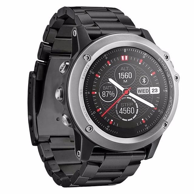 Bracelet de montre connectée pour Garmin 1 pcs Bracelet Sport Acier Inoxydable Remplacement Sangle de Poignet pour Fenix 3