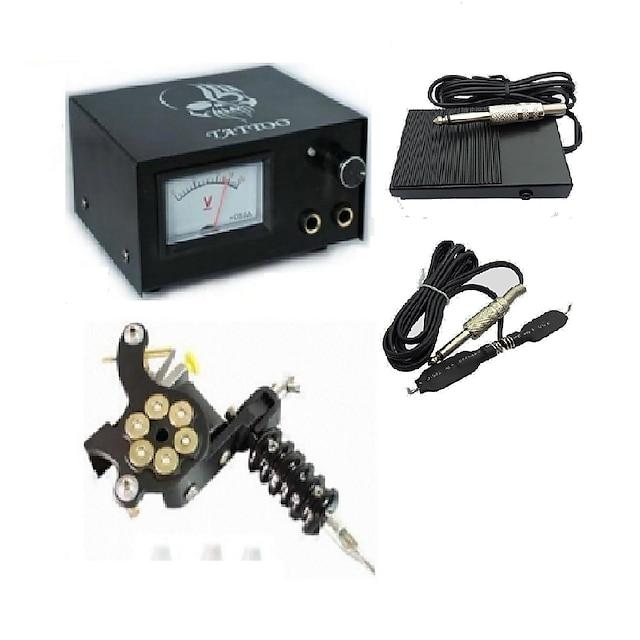 Analog Tattoo Machine Power Supply Digital professionel magt Klipsledning Fodskifte Strømstik