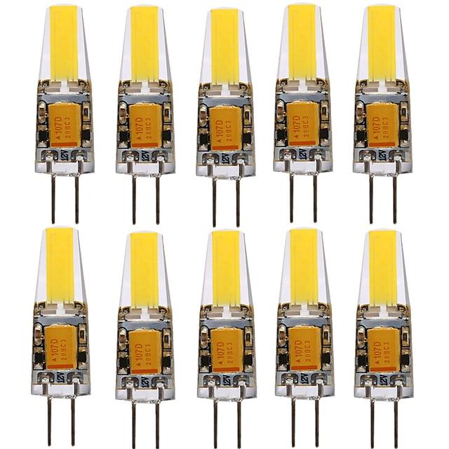 10pcs G4 1505 4W 300-400lm LED Bi-pin Lights Warm White Cold White 360 Beam Angle Lights Spotlight  AC/DC12V
