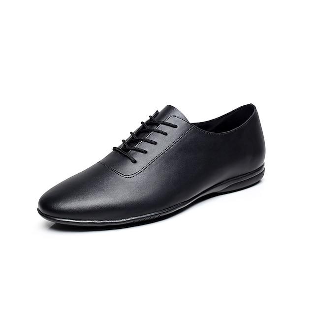 Men's Jazz Shoes Dance Sneakers Flat Ribbon Tie Flat Heel Black Gore / EU43