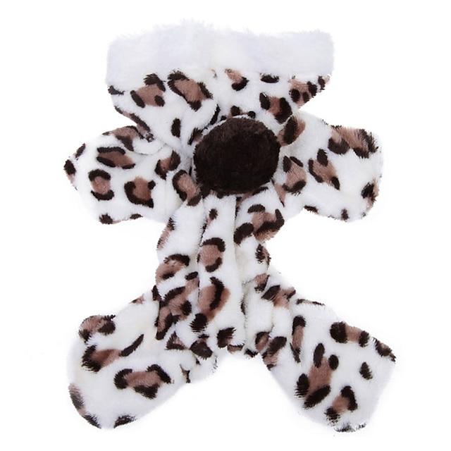 Pisici Câine Hanorace cu Glugă Salopete Pijamale Leopard Casul / Zilnic Iarnă Îmbrăcăminte Câini Haine pentru catelus Ținute pentru câini Respirabil Roz Maro Costum pentru fată și câine băiat Lân