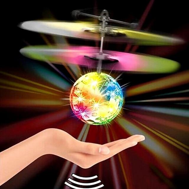 giocattolo magico della palla volante - drone rc a induzione a infrarossi, led per luce da discoteca, elicottero ricaricabile per interni ed esterni - per ragazzi ragazze ragazzi adolescenti