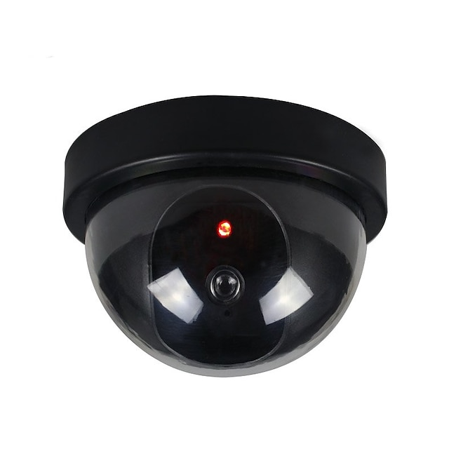 camera de securitate simulată fake camera falsă dummy cu lumină flash condus