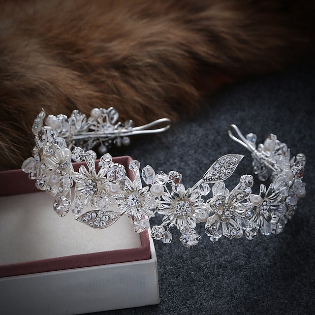 Imitation Pearl / Alloy Crown Tiaras / Headbands / Wreaths with 1 Piece Wedding / Special Occasion / Casual Headpiece