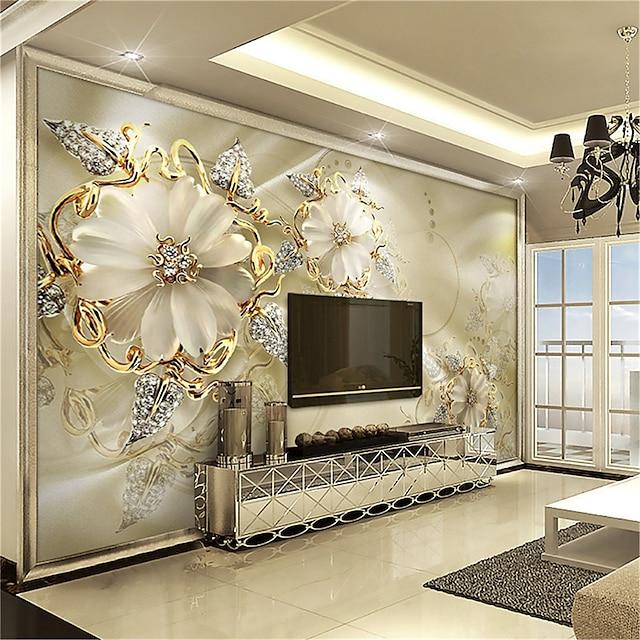 papier peint mural autocollant mural couvrant impression adhésif requis effet 3d or diamant fleur ballon toile décor à la maison