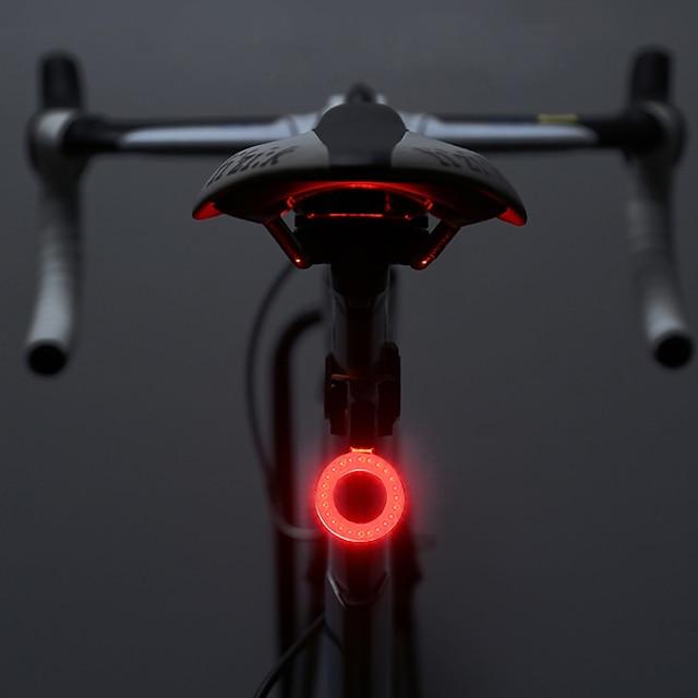 LED Eclairage de Velo Eclairage de Vélo Arrière Eclairage sécurité / feu clignotant velo VTT Vélo tout terrain Vélo Cyclisme Imperméable Modes multiples Super brillant Portable Rechargeable USB 10 lm