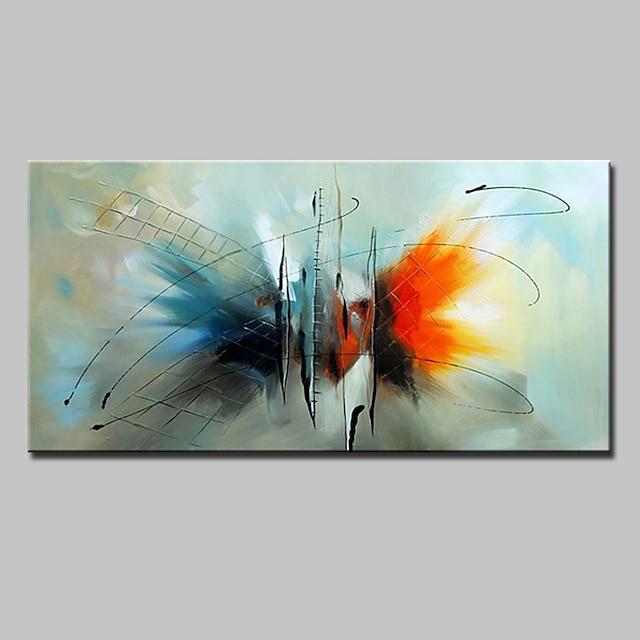 olajfestmény, kézzel készített, festett falfestmény absztrakt modern lakberendezési dekoráció, kifeszített keret, akasztásra kész 60 * 90cm